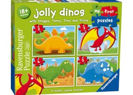 Ravensburger - Jolly Dinos My First Puzzle 2 3 4 5pc by  (4005556072897) - Jigsaw - Jigsaws