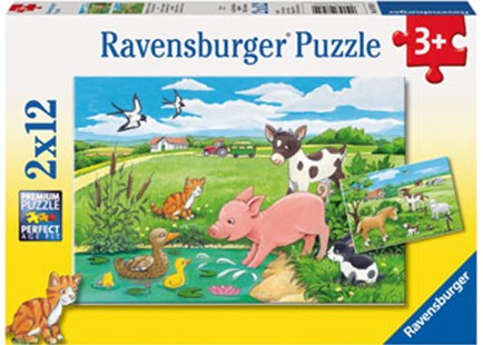 Ravensburger - Baby Farm Animals 2x12pc Puzzle by  (4005556075829) - Jigsaw - Jigsaws