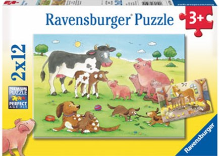Ravensburger - Animal's Children 2x12pc Puzzle by  (4005556075904) - Jigsaw - Jigsaws