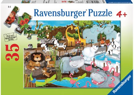 Ravensburger - Day at the Zoo 35pc Puzzle by  (4005556087785) - Jigsaw - Jigsaws