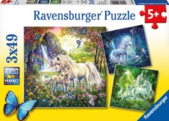 Ravensburger - Beautiful Unicorns Puzzle 3x49p
