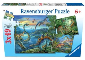 Ravensburger - Dinosaur Fascination Puzzle 3x49pc