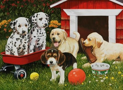 Puppy Party 60 PC Puzzle - Craft & Hobbies Puzzles & Games