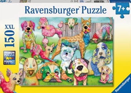 Ravensburger - Patchwork Pups Puzzle 150pc by  (4005556100415) - Jigsaw - Jigsaws
