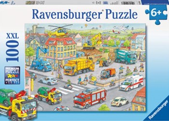 Ravensburger - Vehicles in the City 100pc Puzzle