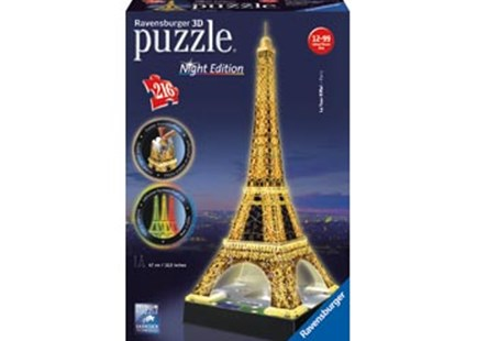 Ravensburger - Eiffel Tower at Night 3D Puzzle 216pc by  (4005556125791) - Jigsaw - Jigsaws