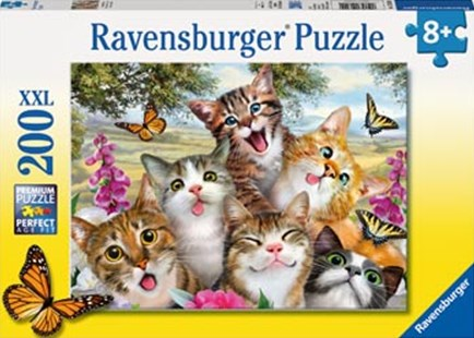 Ravensburger - Friendly Felines Puzzle 200pc by  (4005556126200) - Jigsaw - Jigsaws