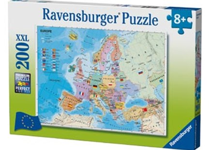Ravensburger - European Map Puzzle 200pc by  (4005556128419) - Jigsaw - Jigsaws