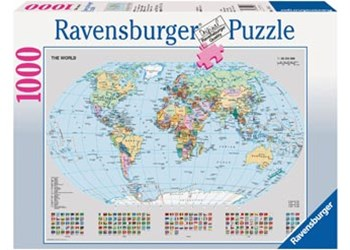 Ravensburger - Political World Map Puzzle 1000pc
