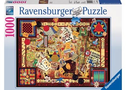 Ravensburger - Vintage Games Puzzle 1000pc by  (4005556194063) - Jigsaw - Jigsaws