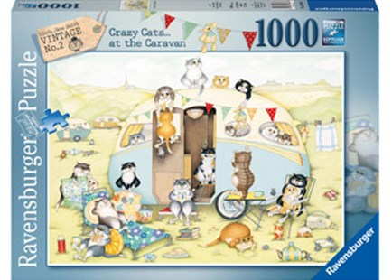 Ravensburger - Crazy Cats Caravan 1000pc Puzzle by  (4005556195886) - Jigsaw - Jigsaws