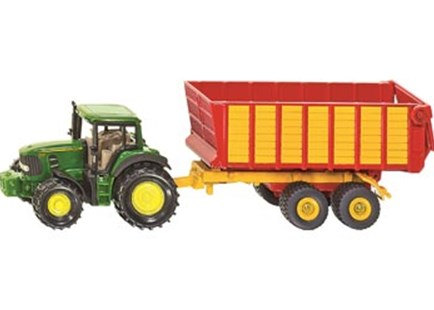 Siku - John Deere with Silage Trailer - Children's Toys & Games Vehicles