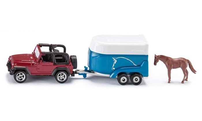 Siku - Jeep with Horse Trailer