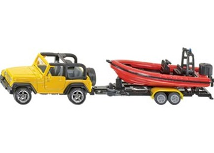 Siku - Jeep with Boat - Children's Toys & Games Vehicles