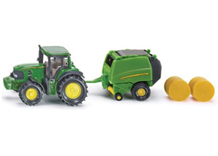 Siku - John Deere Tractor with Round Baler - Children's Toys & Games Vehicles