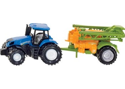 Siku - New Holland & Amazone Tractor with Crop Sprayer - Children's Toys & Games Vehicles