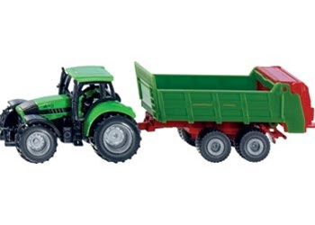Siku - Tractor with Universal manure spreader