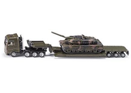 Siku - MAN Heavy Haulage Truck with Tank - 1:87 Scale - Children's Toys & Games Vehicles