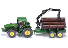 Siku - John Deere with Forestry Trailer - 1:50 Scale