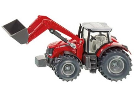 Siku - Massey Ferguson with Front Loader - 1:50 Scale - Children's Toys & Games Vehicles
