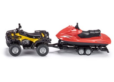 Siku - Quad with Jet-ski - 1:50 Scale - Children's Toys & Games Vehicles