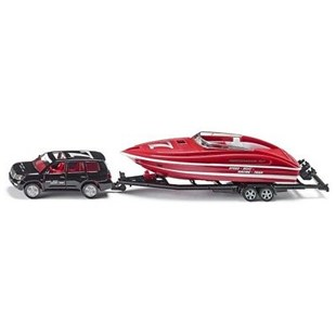 Siku - Toyota Car with Motorboat - 1:55 Scale - Children's Toys & Games Vehicles
