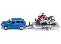 Siku - BMW Car with Motorbike - 1:55 Scale