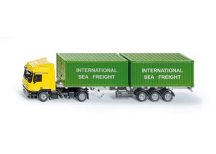 Siku - Mercedes Benz Actros Container Truck - 1:50 Scale - Children's Toys & Games Vehicles