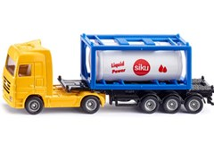 Siku - Mercedes Benz Truck with Tank Container - 1:87 Scale