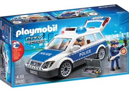 Playmobil - Police Car with Lights and Sound - Children's Toys & Games Figures & Dolls
