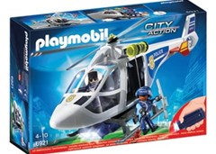 Playmobil - Police Helicopter with LED Searchlight