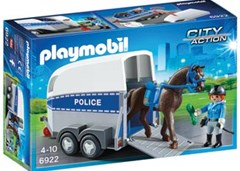 Playmobil - Police with Horse and Trailer