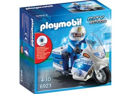 Playmobil - Police Bike with LED Light - Children's Toys & Games Figures & Dolls
