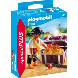 Playmobil Pirate with Treasure Chest - Children's Toys & Games Figures & Dolls