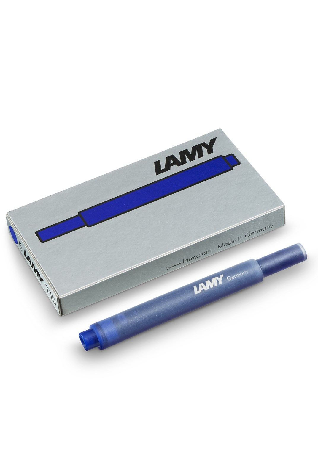 LAMY - T10 Fountain Pen Ink Cartridges - Pack of 5 - Hangsell - Blue