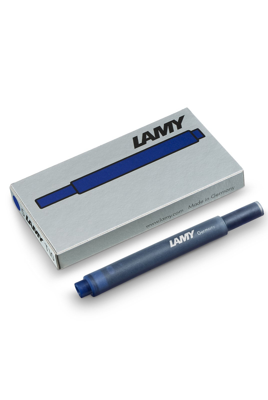 LAMY - T10 Fountain Pen Ink Cartridges - Pack of 5 - Blue-Black