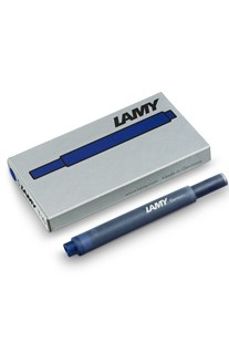 Lamy T10 Fountain Pen Ink Cartridges Pack of 5 Blue-Black - Ink & Refills Fountain Pen Cartridges