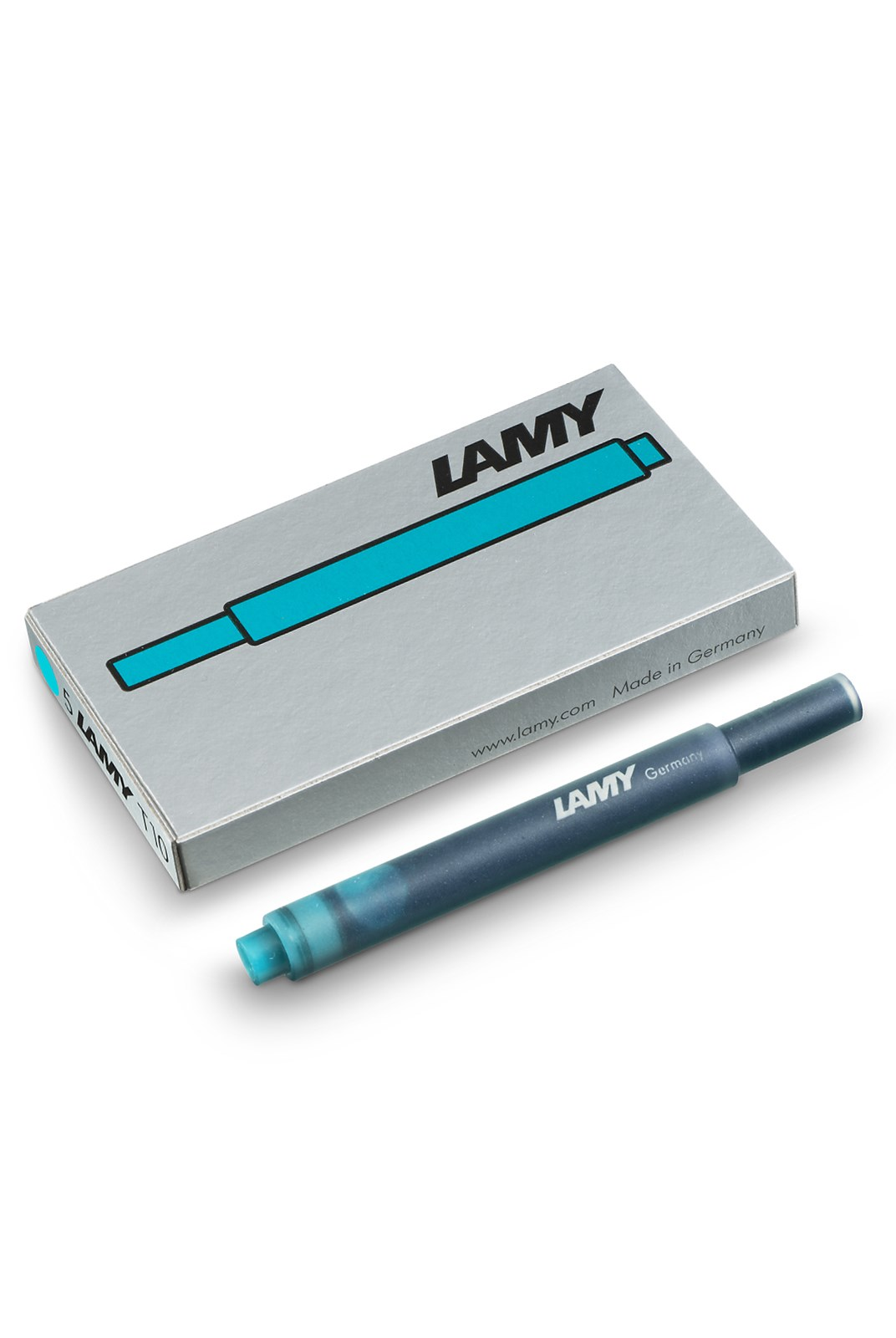 LAMY - T10 Fountain Pen Ink Cartridges - Pack of 5 - Hangsell - Turquoise
