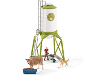 Schleich - Feed Silo with Animals
