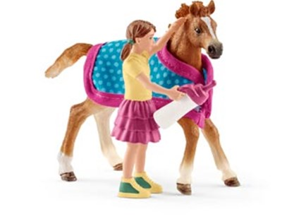 Schleich - Foal with Blanket - Children's Toys & Games Figures & Dolls