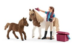 Schleich - Stablehand with Shetland Ponies