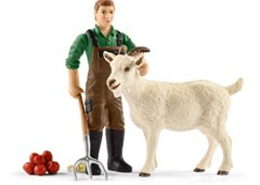 Schleich - Farmer with Goat