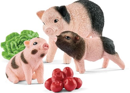 Schleich - Miniature Pig Mother & Piglets - Children's Toys & Games Figures & Dolls