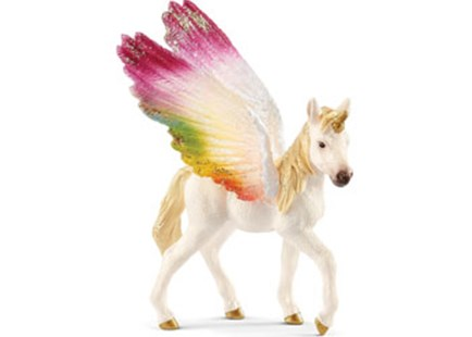 Schleich - Winged Rainbow Unicorn Foal - Children's Toys & Games Figures & Dolls