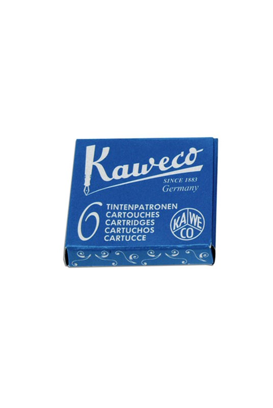Kaweco - Fountain Pen Ink Cartridges - Pack of 6 - Blue