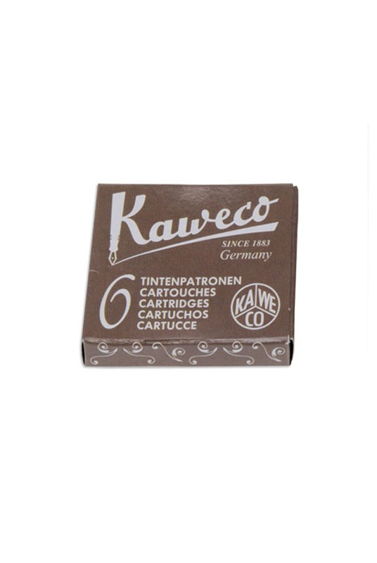 Kaweco - Fountain Pen Ink Cartridges - Pack of 6 - Brown