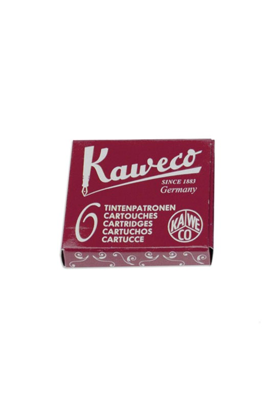 Kaweco - Fountain Pen Ink Cartridges - Pack of 6 - Red