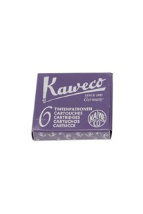 Kaweco - Fountain Pen Ink Cartridges - Pack of 6 - Purple - Ink & Refills Fountain Pen Cartridges