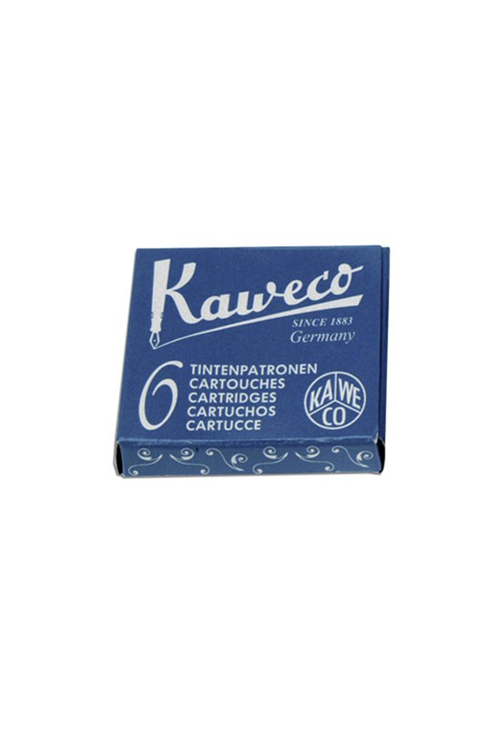 Kaweco - Fountain Pen Ink Cartridges - Pack of 6 - Blue-Black