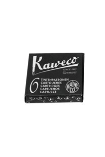 Kaweco - Fountain Pen Ink Cartridges - Pack of 6 - Black - Ink & Refills Fountain Pen Cartridges